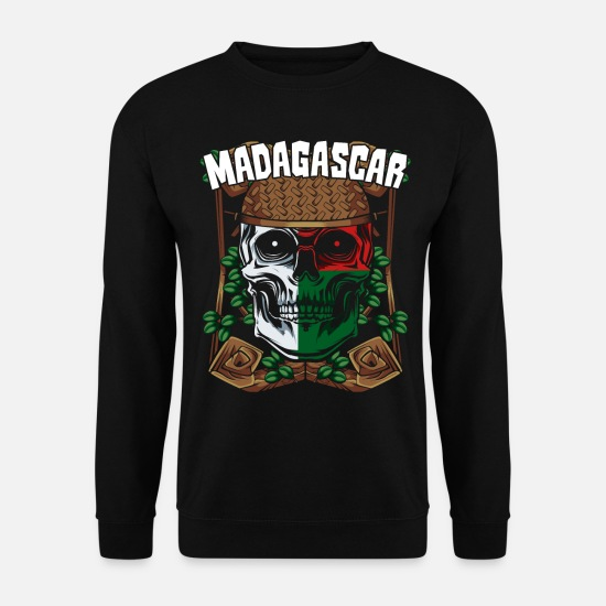 National Colours Hoodies & Sweatshirts - Madagascar - Men's Sweatshirt black