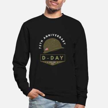 War 75 years D Day anniversary WWII World War II alliance - Unisex Sweatshirt