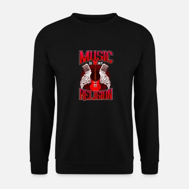 Match Music Is My Religion design Electric Guitar Mens - Men's Sweatshirt