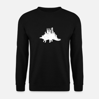 Stylish rhino city city silhouette animal - Men's Sweatshirt
