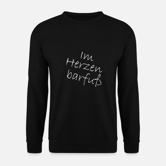 Typography Hoodies & Sweatshirts - Barefoot in the heart - Unisex Sweatshirt black