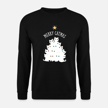 Christmas Merry Catmas - Cat Christmas Merry Christmas Tree - Bluza bez kaptura unisex