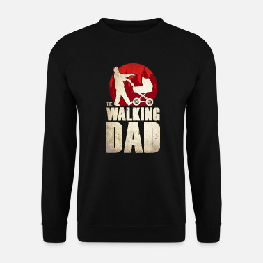 Zombie The walking Dad Kinderwagen Papa Zombie Vater - Mannen sweater