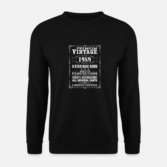 1989 Hoodies & Sweatshirts - PREMIUM VINTAGE 1989 - Men's Sweatshirt black