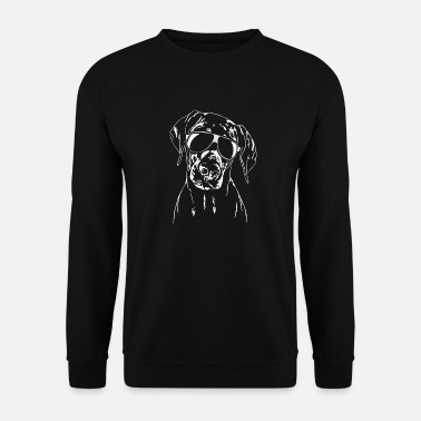 DOBERMANN Doberman with glasses cool Wilsigns dogs - Unisex Sweatshirt