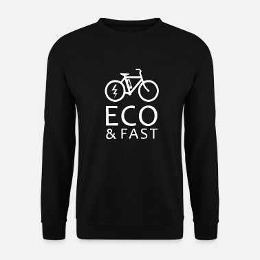 E-Bike Bicycle dice Eco regalo ecologico - Felpa uomo