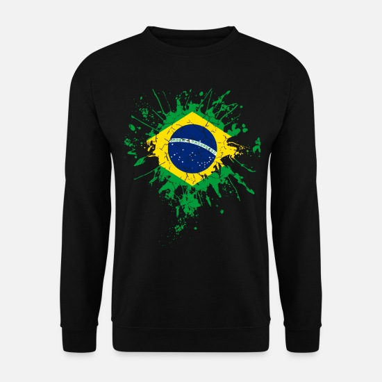 National Team Hoodies & Sweatshirts - Brazil flag flag - Men's Sweatshirt black