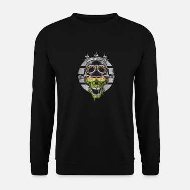 Monster Biker Skull is boos - Unisex sweater
