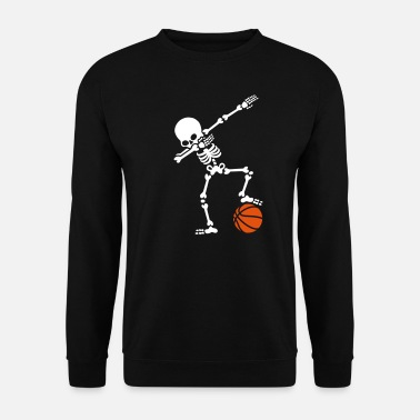 Dab Dab dabbing skeleton football basketball - Felpa uomo