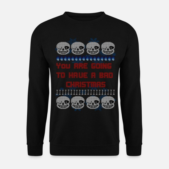 Undertale Pullover & Hoodies - You are going to have a bad Christmas Pullover - Männer Pullover Schwarz
