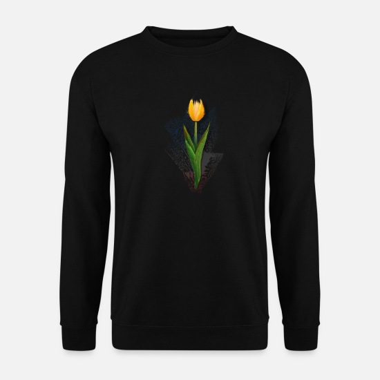 Botanique Sweat-shirts - tulipe - Sweat-shirt Homme noir