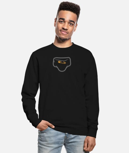 Shit Hoodies & Sweatshirts - Diaper With A Safety Pin - Unisex Sweatshirt black