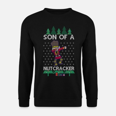 Ugly Christmas Dabbing Son of a Nutcracker Ugly Christmas Sweater - Männer Pullover