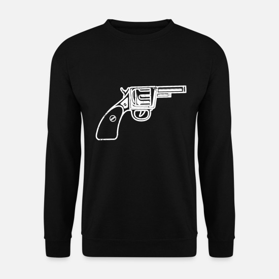 Tir Sportif Sweat-shirts - Arme de poing pistolet - Sweat-shirt Homme noir