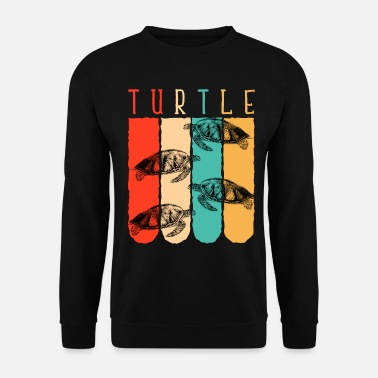 Froid Tortue rétro reptile - Sweat-shirt Homme