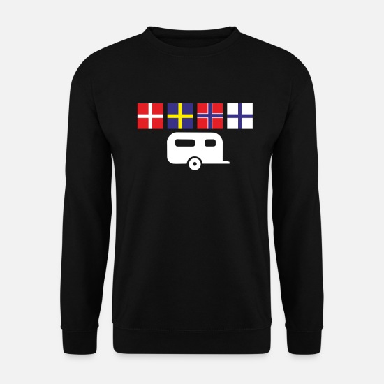 Stockholm Hoodies & Sweatshirts - Camping holiday in Scandinavia in the caravan - Men's Sweatshirt black