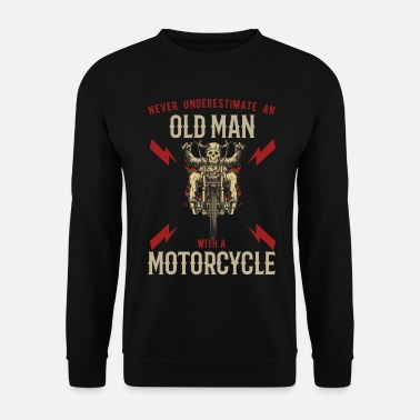 Motor Old Man Motorcyclist Motorcycle Retired Biker - Unisex sweater
