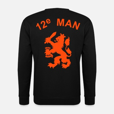12e man leeuw Sweaters - Mannen sweater