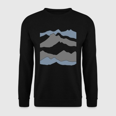 mountains - hill - nature - mount - Men's Sweatshirt