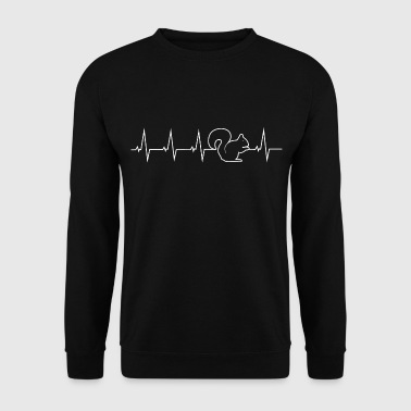 I love Chipmunk - heartbeat - Men's Sweatshirt