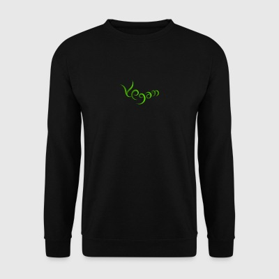 Vegan hand-written design - Men's Sweatshirt