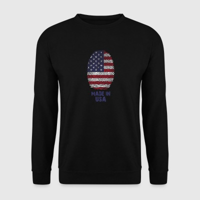 USA Flag - America - Made in USA - regalo - Felpa da uomo