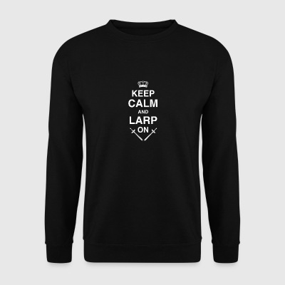 Keep Calm LARP, Rolling, RPG, Fantasy - Men's Sweatshirt