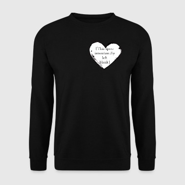 Empty Heart - Men's Sweatshirt
