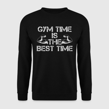 GYM time is the best time - Männer Pullover