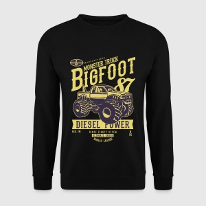 MONSTER TRUCK Big Foot - Retro Truck Shirt Design - Genser for menn