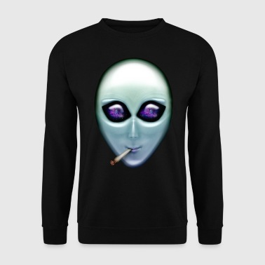 Smoking Alien - Men's Sweatshirt