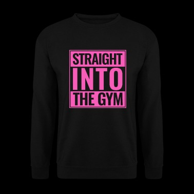 Straight Into The Gym Logo pink - Männer Pullover