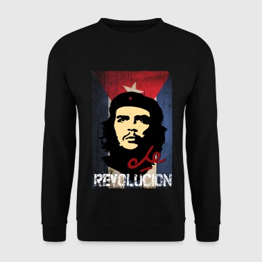 Che Guevara Cuba Flag Men T-Shirt - Men's Sweatshirt