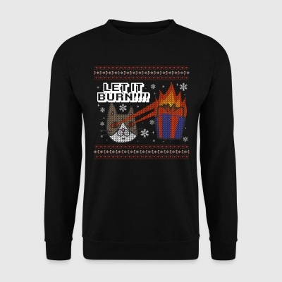 UGLY CHRISTMAS SWEATER CATS CAT: LET IT BURN GIFT - Männer Pullover