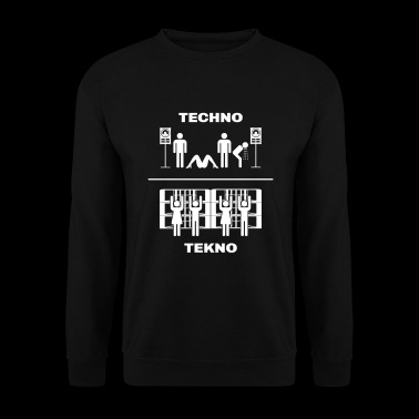 Techno vs Tekno - Sweat-shirt Homme
