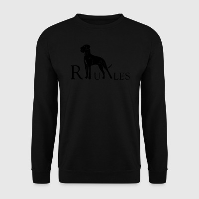 dogge rules - Men's Sweatshirt