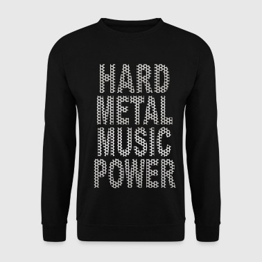 hard metal music power - Sweat-shirt Homme