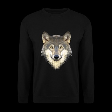 Loup Polygon - Sweat-shirt Homme