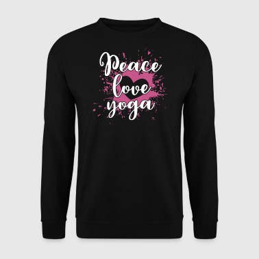 Peace Love Yoga - Peace Love Yoga Shirt - Men's Sweatshirt