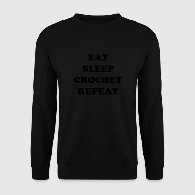 eatsleepcrochet2 - Sweat-shirt Homme