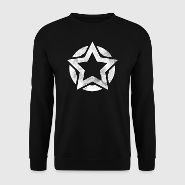Star in circle grunge gift - Men's Sweatshirt