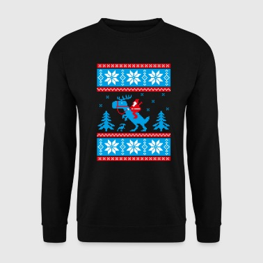 Jurassic ugly christmas - Sweat-shirt Homme