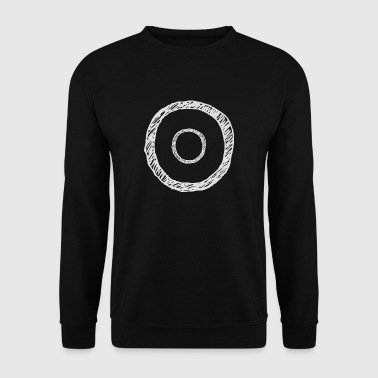 Les cercles blancs Minimal - Sweat-shirt Homme