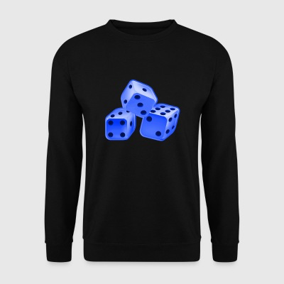 Dice blue - Men's Sweatshirt