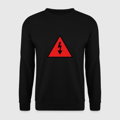 electricity danger signal - Men's Sweatshirt