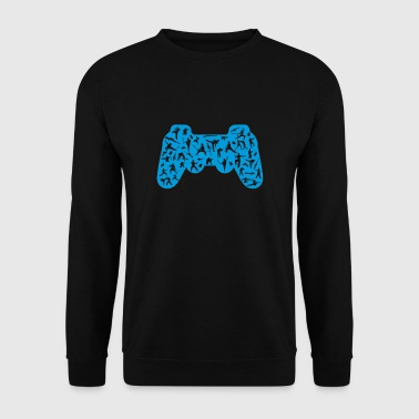 blue control - Men's Sweatshirt