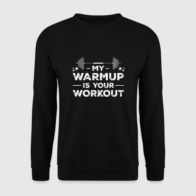 Warmup workout fitness gym gift christmas - Men's Sweatshirt