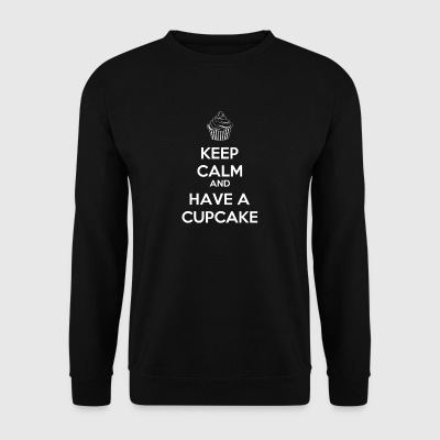 Keep Calm and have a cupcake gift sayings - Men's Sweatshirt