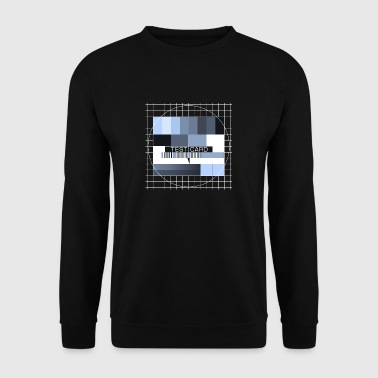 Test picture television screen transmission completion display - Men's Sweatshirt