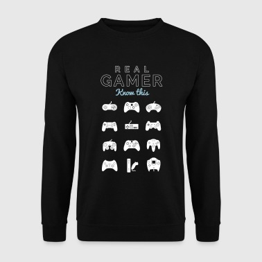 real gamer pour les vrais gamer - Sweat-shirt Homme